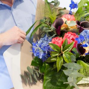 Bouquet mixte en magasin