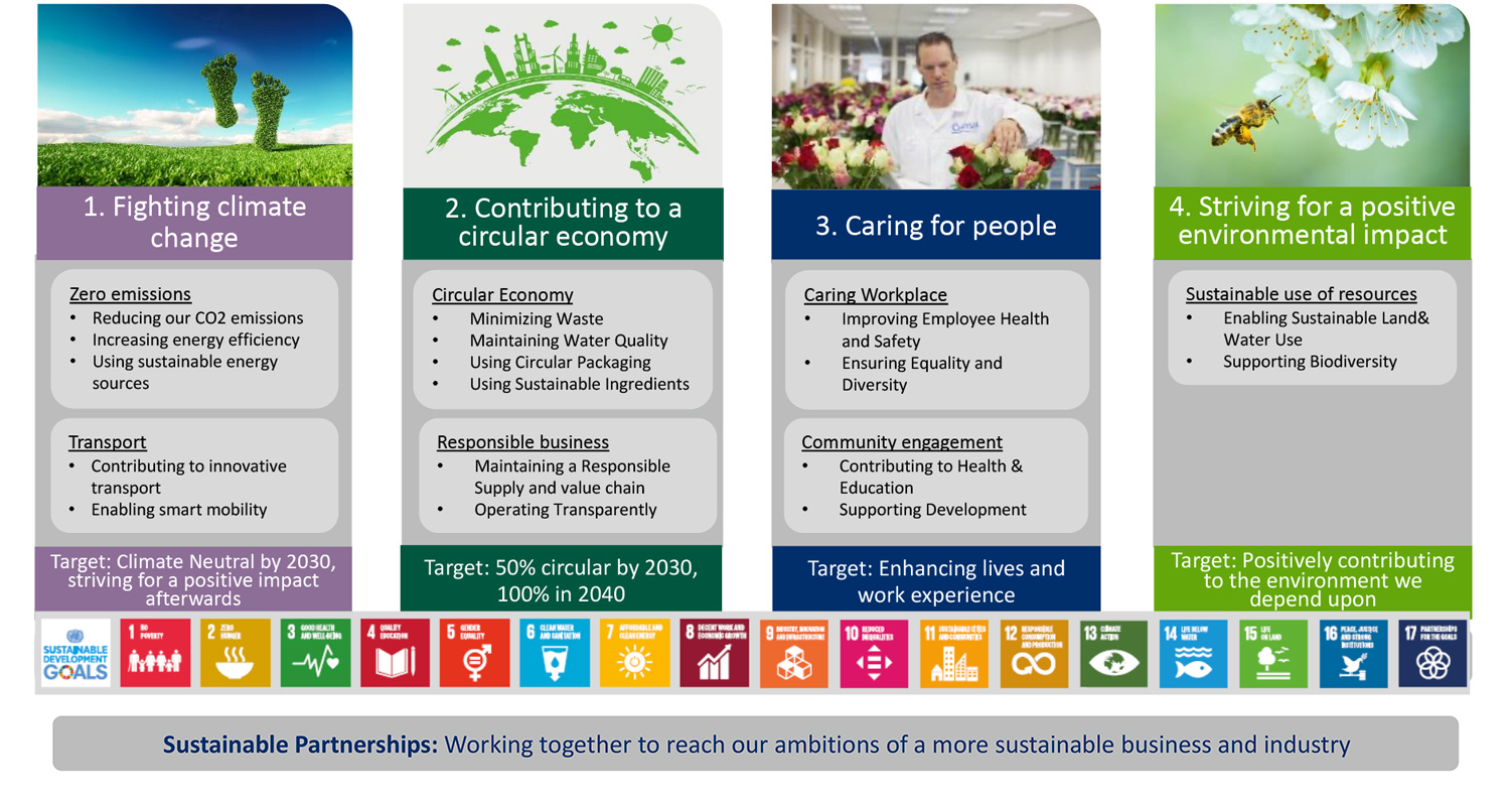 Overview sustainability pillars